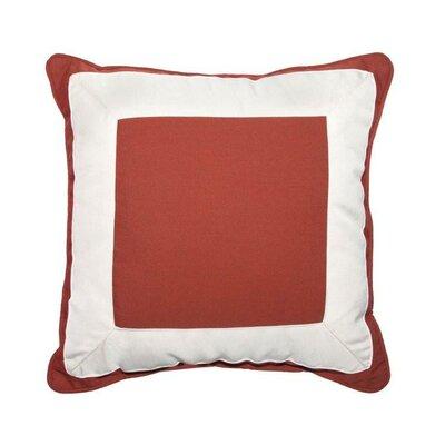 Canvas Border Throw Pillow Color: Henna