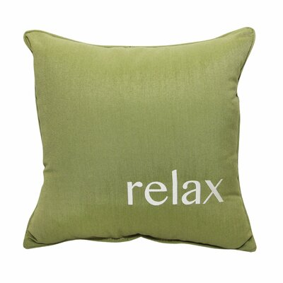 Relax Embroidery Indoor/Outdoor Throw Pillow