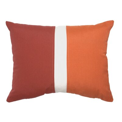 Colorblock Lumbar Pillow Color: Henna/Rust