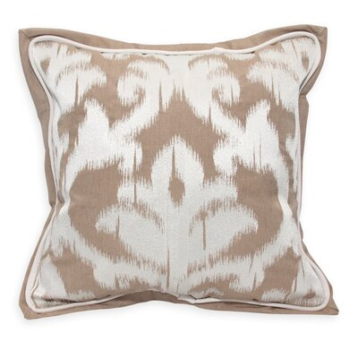 Damask Embroidery Throw Pillow