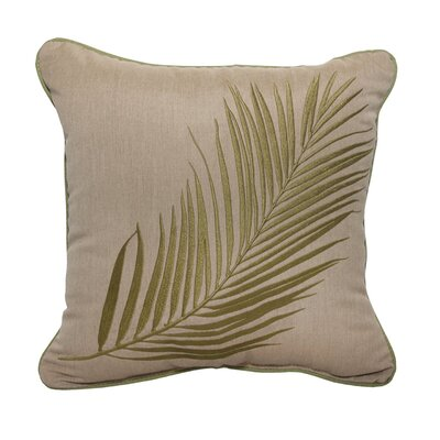 Palm Embroidery Indoor/Outdoor Throw Pillow