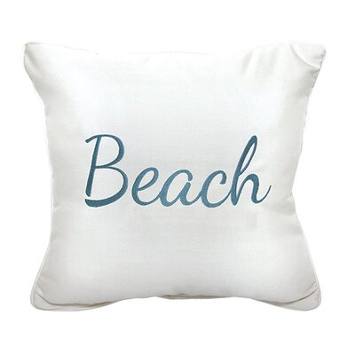Beach Embroidery Indoor/Outdoor Throw Pillow