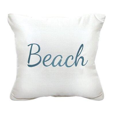 Beach Embroidery Indoor/Outdoor Throw Pillow