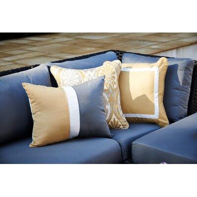 Colorblock Lumbar Pillow Color: Heather Beige/Navy