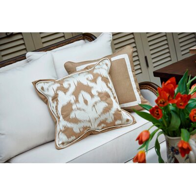 Canvas Border Throw Pillow Color: Heather Beige