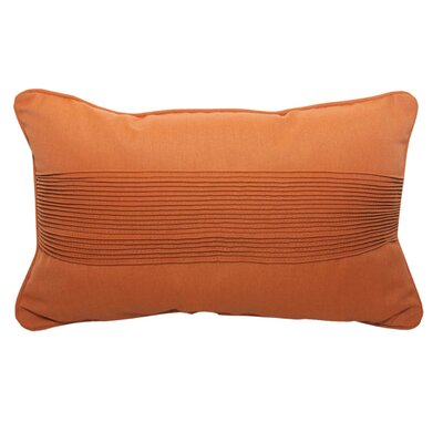Pintuck Lumbar Pillow Color: Canvas Rust