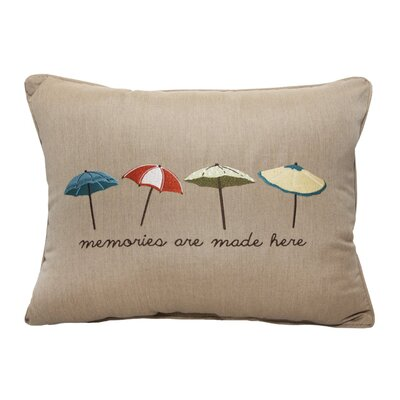 Umbrella Embroidery Lumbar Pillow