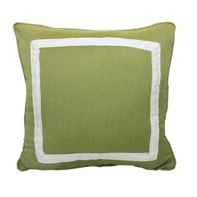 Canvas Border Throw Pillow Color: Spectrum Cilantro