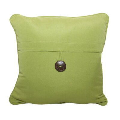 Single Button Throw Pillow Color: Ginkgo