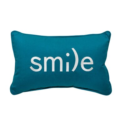 Smile Embroidery Lumbar Pillow