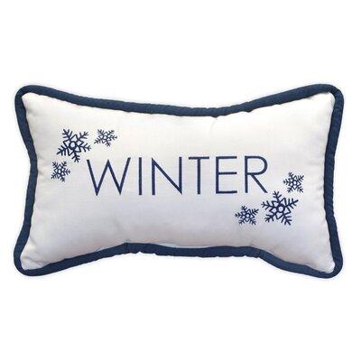 Winter Embroidery Indoor/Outdoor Lumbar Pillow