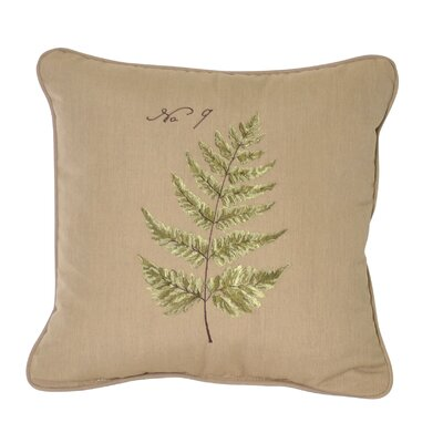 Fern Embroidery Indoor/Outdoor Throw Pillow