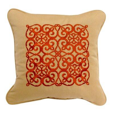 Medallion Embroidery Throw Pillow
