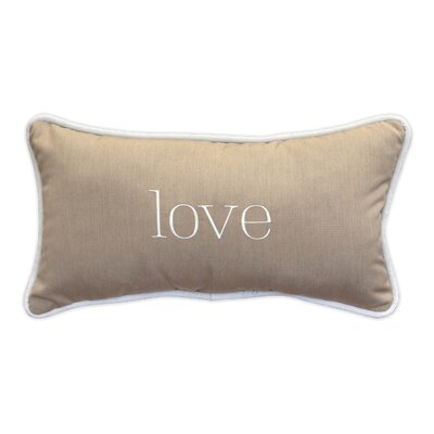 Love Embroidery Indoor/Outdoor Lumbar Pillow
