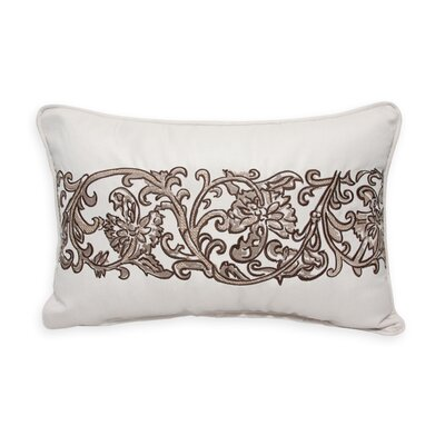 Scroll Embroidery Indoor/Outdoor Lumbar Pillow