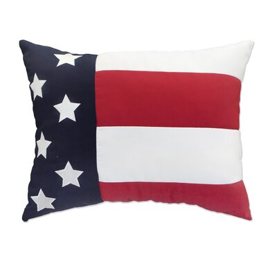 Flag Embroidery Indoor/Outdoor Lumbar Pillow