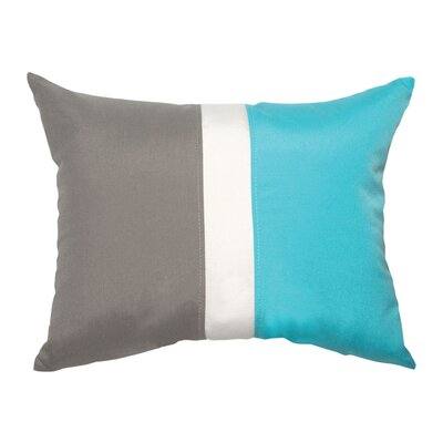 Colorblock Lumbar Pillow Color: Charcoal/Aruba