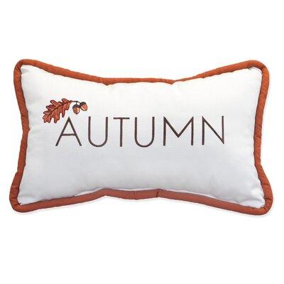 Autumn Embroidery Indoor/Outdoor Lumbar Pillow