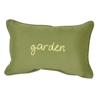 Garden Embroidery Indoor/Outdoor Lumbar Pillow
