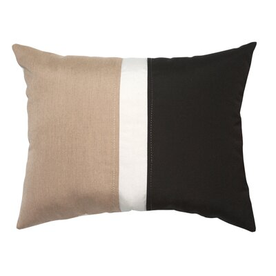 Colorblock Lumbar Pillow Color: Heather Beige/Black