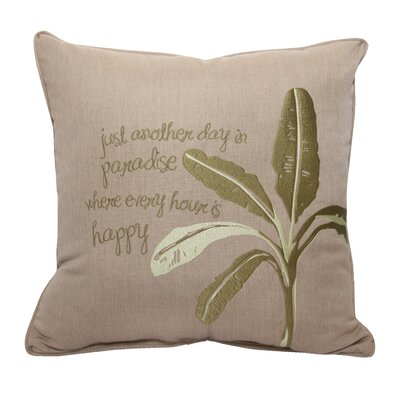 Paradise Embroidery Indoor/Outdoor Throw Pillow