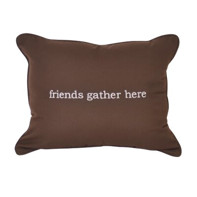 Friends Embroidery Indoor/Outdoor Lumbar Pillow