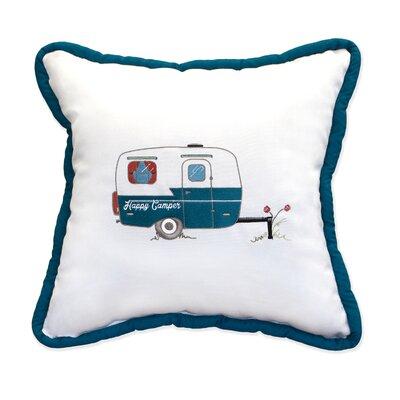 Happy Camper Embroidery Indoor/Outdoor Throw Pillow