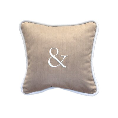 Ampersand Embroidery Indoor/Outdoor Throw Pillow