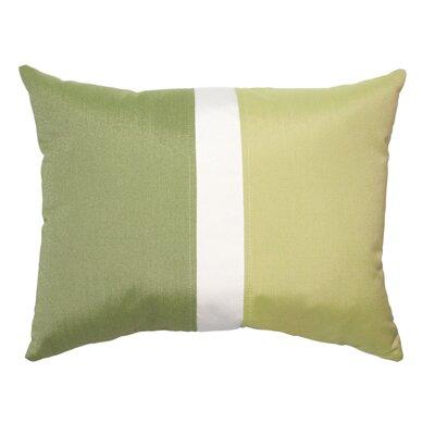 Colorblock Lumbar Pillow Color: Cilantro/Kiwi