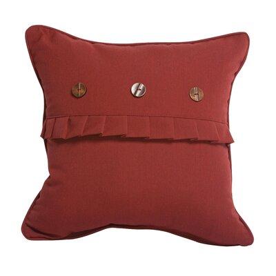 3 Button Ruffle Throw Pillow