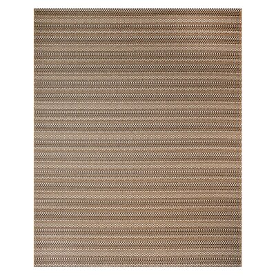 Jennings Chestnut Black Indoor/Outdoor Area Rug Rug Size: Rectangle 53 x 75