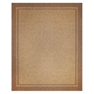 Jennings Chestnut Black Indoor/Outdoor Area Rug Rug Size: 53 x 75