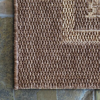 Savannah Chestnut Beige Indoor/Outdoor Area Rug Rug Size: Rectangle 710 x 10