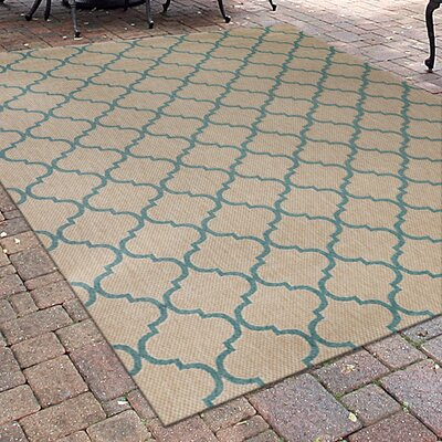 Ayles Beige Indoor/Outdoor Area Rug