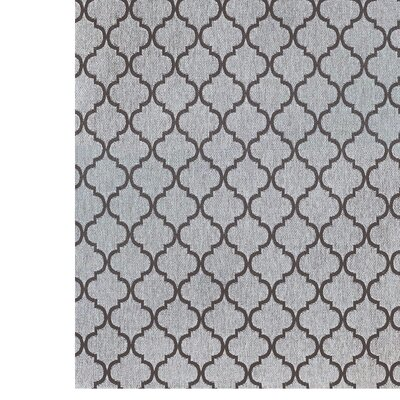 Ayles Gray Indoor/Outdoor Area Rug Rug Size: 53 x 75
