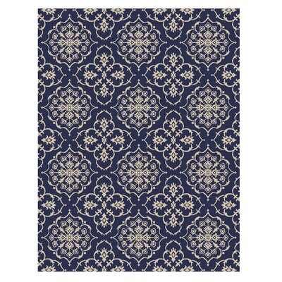 Auburn Navy Indoor/Outdoor Area Rug Rug Size: 53 x 75