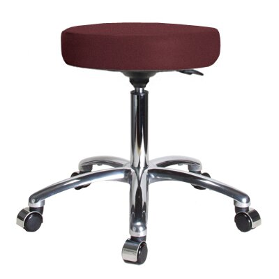 Height Adjustable Swivel Stool Size 23 H x 24 W x 24 D Color Burgundy