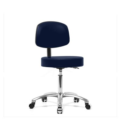 Height Adjustable Exam Stool with Basic Backrest Size: 36