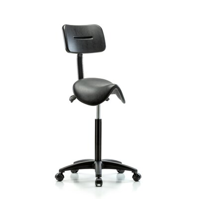 Height Adjustable Saddle Stool Back Product Image 13934