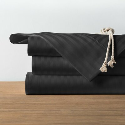 1800 Series Collection 100% Cotton Sheet Set Size: King, Color: Black