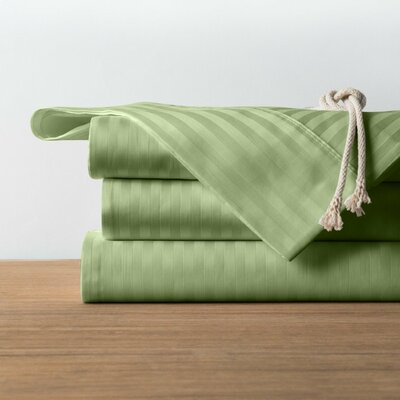 1800 Series Collection 100% Cotton Sheet Set Size: King, Color: Sage