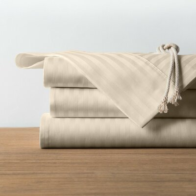 1800 Series Collection 100% Cotton Sheet Set Size: King, Color: Beige