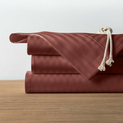 1800 Series Collection 100% Cotton Sheet Set Size: King, Color: Brown