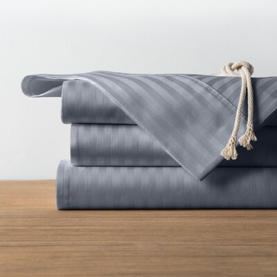 1800 Series Collection 100% Cotton Sheet Set Color: Silver, Size: Queen