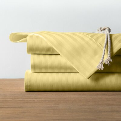 1800 Series Collection 100% Cotton Sheet Set Color: Gold, Size: Twin