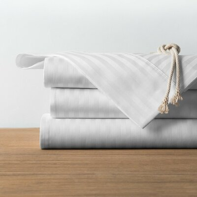 1800 Series Collection 100% Cotton Sheet Set Size: King, Color: White