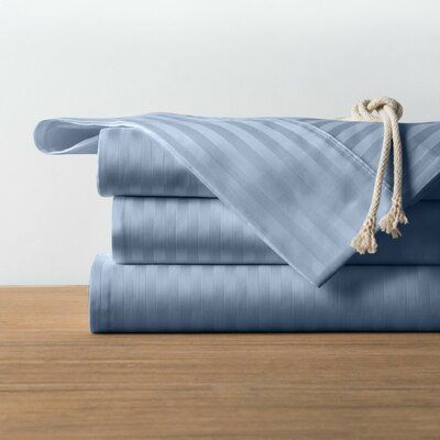 1800 Series Collection 100% Cotton Sheet Set Color: Light Blue, Size: Full