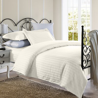 Cotton Duvet Set Color: Beige, Size: Twin