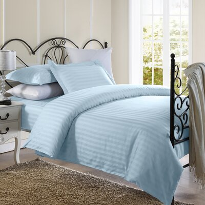 Cotton Duvet Set Size: Full / Queen, Color: Light Blue