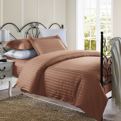 Cotton Duvet Set Size: Full / Queen, Color: Brown